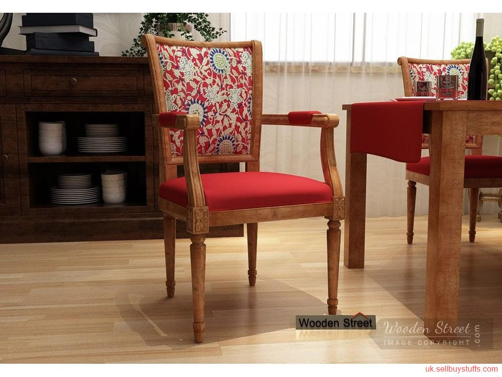 second hand/new: Buy Solid Wood Armrest Chairs in UK at Wooden Street
