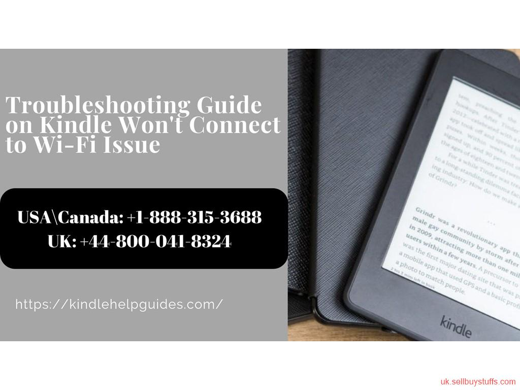 London Classified Fix Kindle Won't Connect To Wi-Fi Error | Call Kindle Helpline +44-800-041-8324