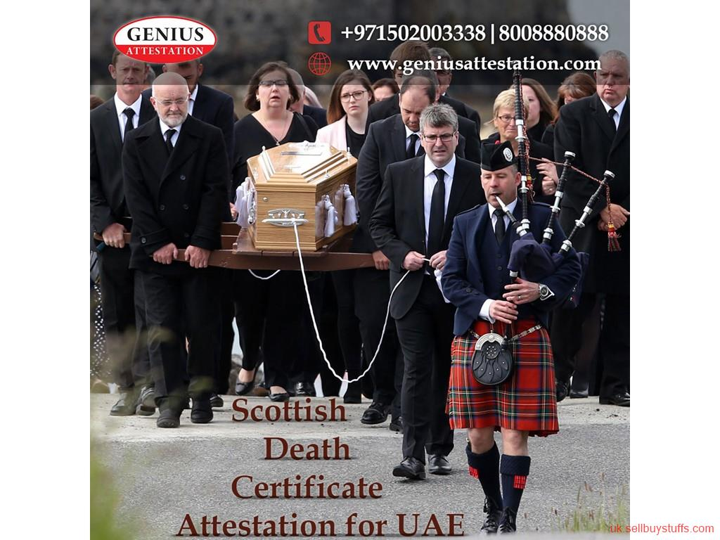 second hand/new: Scottish Death Certificate attestation for UAE