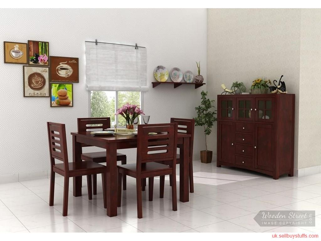 second hand/new: Get Amazing Offers on Wooden 4 Seater Dining Table in UK