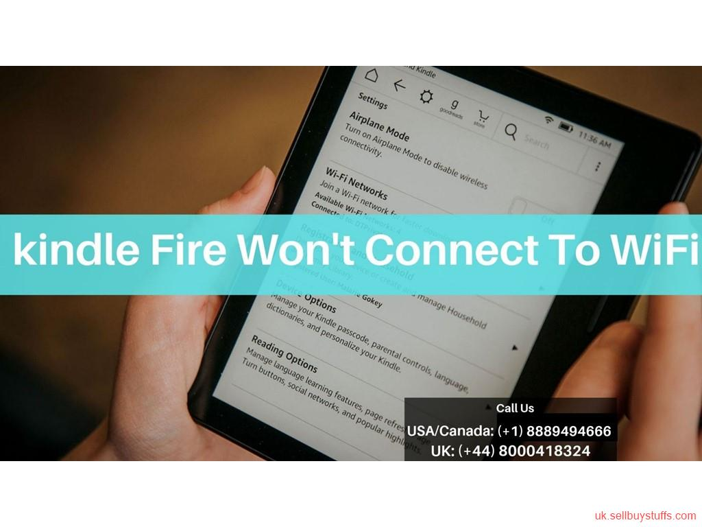 second hand/new: Kindle Fire Wifi Connection Failure Error | Call Kindle Helpline +44-800-041-8324