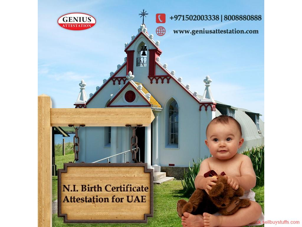 second hand/new: N.I. Birth Certificate Attestation for UAE