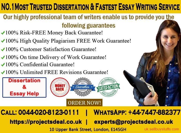 second hand/new: No.1 Most Trusted Dissertation & Fastest Essay Writing Service