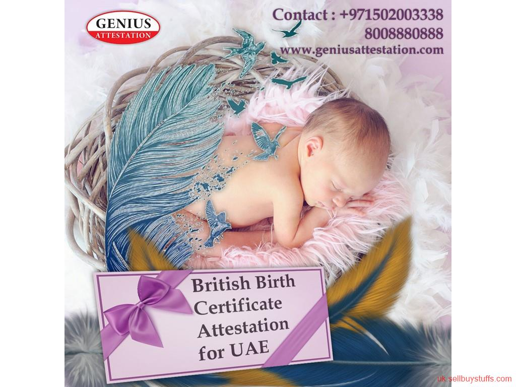 second hand/new: British Birth Certificate Attestation for UAE