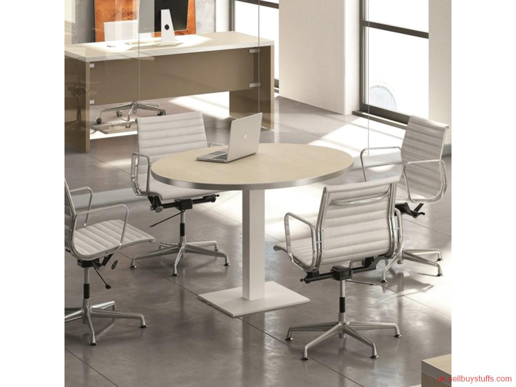 London Classified Create Unique Look with Round Meeting Table and Chairs