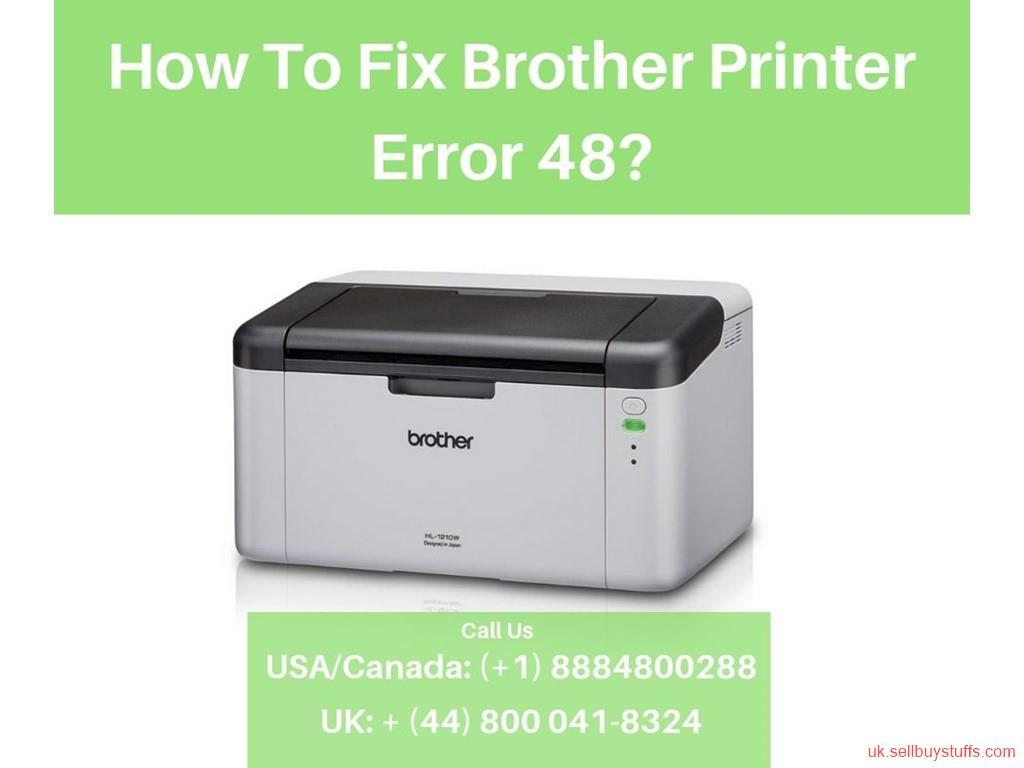second hand/new: Fix Brother Printer Error 48 | Helpline number + (44) 800-041-8324