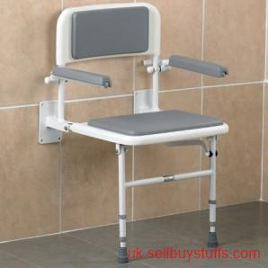 second hand/new: Wall Mounted Shower Seat With Back And Arms