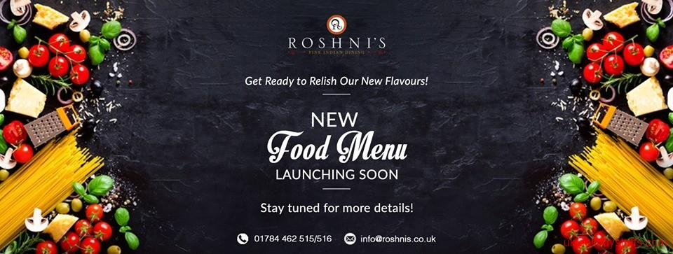 second hand/new: Indian Restaurant Menu | Roshni's Staines Menu