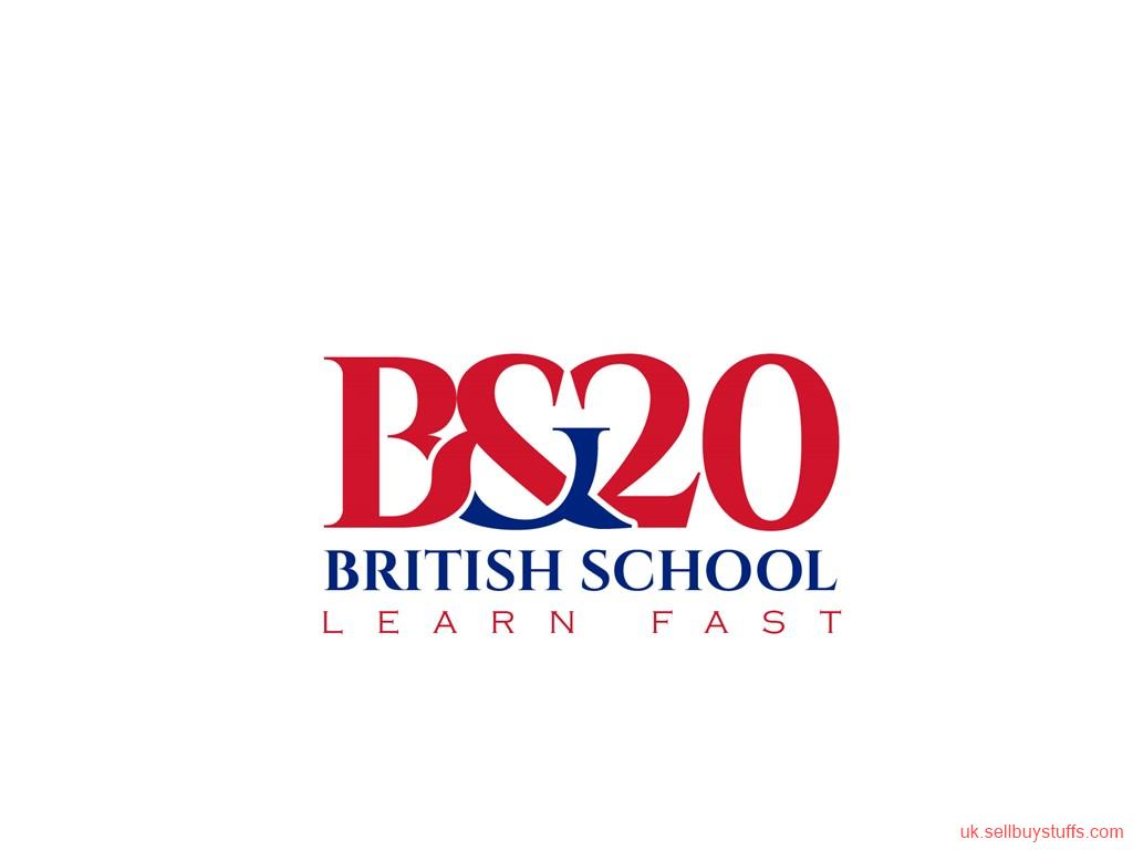 second hand/new: B&20 British School