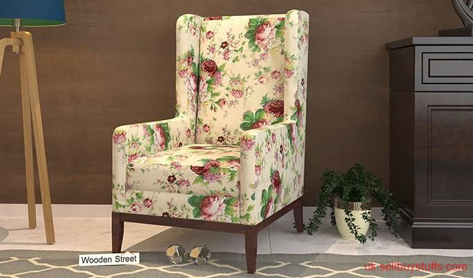 second hand/new: Shop luxury Wingback chairs in UK at Wooden Street