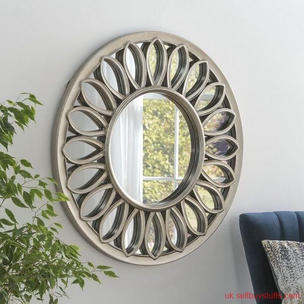 second hand/new: Buy large round gold mirror at Affordable Rates in the UK