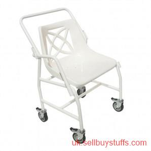 second hand/new: Mobile Shower Chair with Detachable Arms