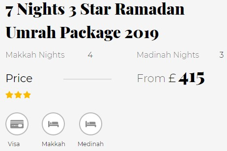 second hand/new: Full Ramadan Umrah Packages