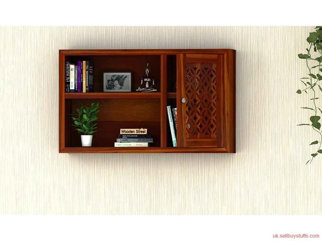 second hand/new: Get huge discount on solid wood wall shelves - WoodenStreet