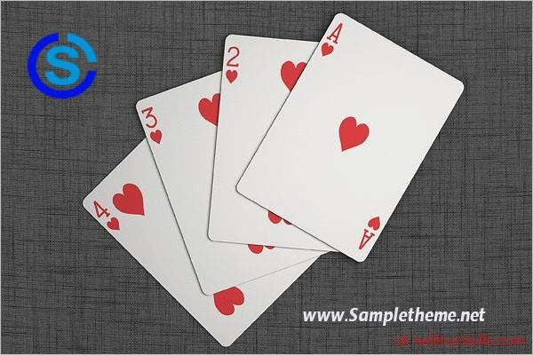 second hand/new:  Playing Cards Mockup – Sampletheme